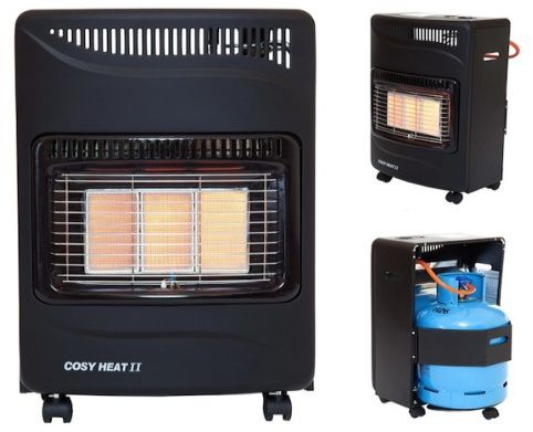 home heating shop calor gas heater set up