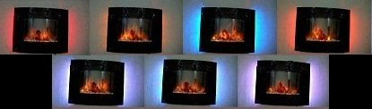Home Heating Shop Electric Fire Reviews. Mulri colored wall mounted Glass fronted fire