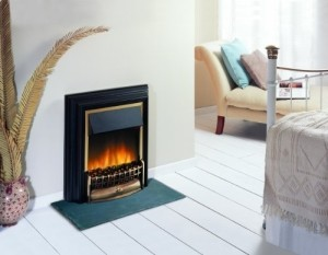Home Heating Shop Electric fire reviews Dimplex Cheriton on hearth slate p[ad