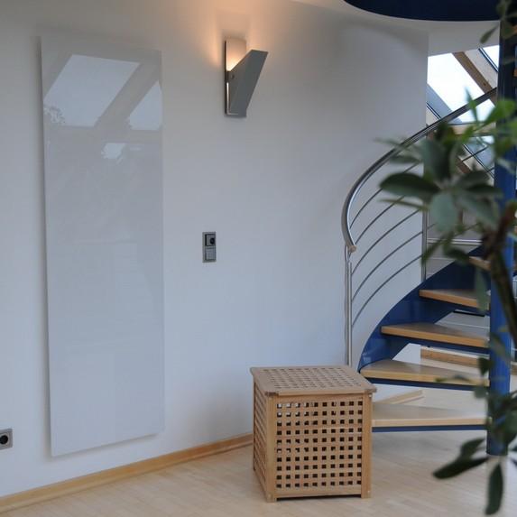 Home Heating Shop Panel Heaters Reviews  Olsberg Orayonne white glass panel