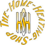 Home heating shop heater shop logo