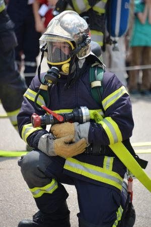 Portable heater safety   A fire fighter