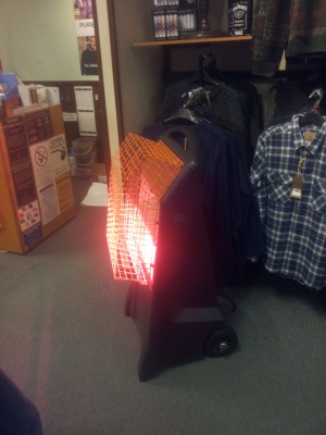 Home Heating Shop Radiant Heater Reviews The Birchwood Rhino infra red quartz heater in shop-1