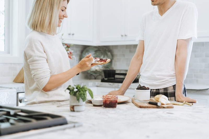 About the home heating shop eating in the kitchen