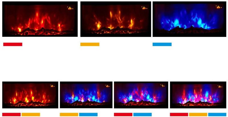 Home Heating Shop Electric Fire Reviews. Trueflame Multi colored wall mounted Glass fronted fire colours