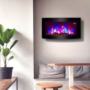 Home Heating Shop electric fire trueflame multi colored glass fronted wall mounted fire